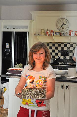 Meg with cake
