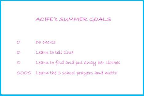Summer goals 2011