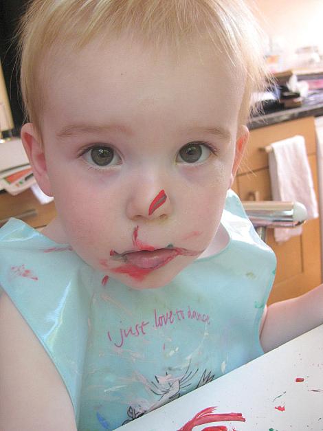 Toddler painting 2