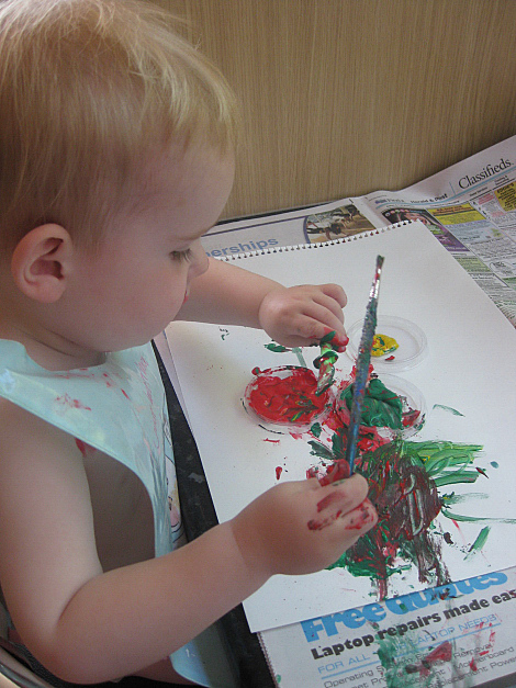 Toddler painting 1